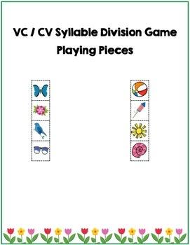 VC / CV Syllable Division Dice Game, Segmenting, Literacy, Phonics, Freebie