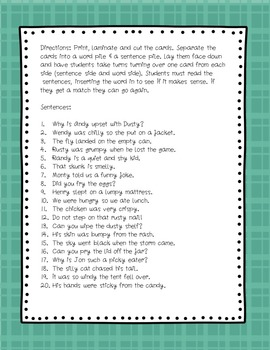 VC/CV Syllable Pattern  Fill-in-the-Blank Memory Game & Bonus Story