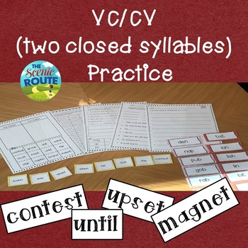 VC/CV (Two Closed Syllables) Practice