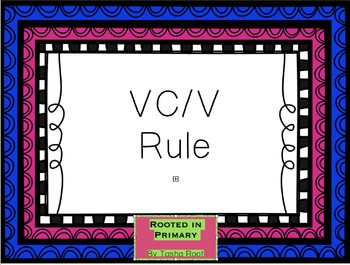 VC/V Word Practice Lesson