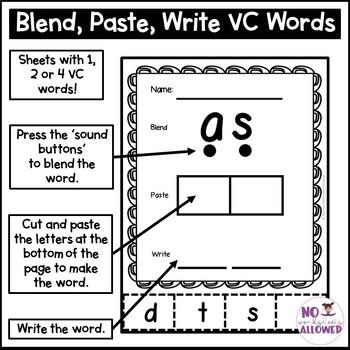 VC Words Activity Bundle 2
