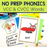 VCC and CVCC Words Worksheets and Activities | No Prep Phonics
