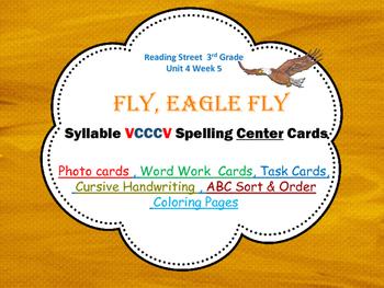 VCCCV Syllables Photo Center Cards Fly,Eagle, Fly, Reading Street 3rd Grade