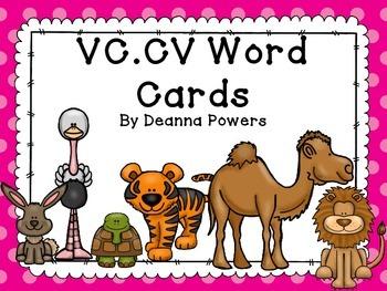 VC.CV Pattern Word Cards