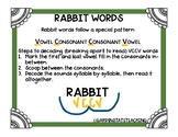VCCV (Rabbit Words) Five-in-a-Row Game - Distance Learning