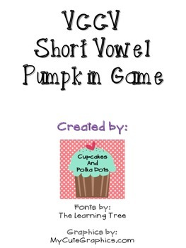 VCCV Short Vowel Pumpkin Patch Game (Reading Street 2013 3
