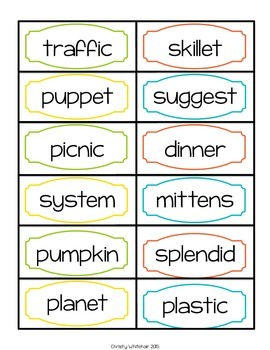 VCCV Syllable Decoding for Upper Elementary; RTI