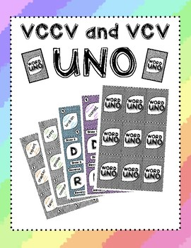 VCCV and VCV Words ~ Uno Game