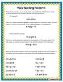 VCCV spelling patterns