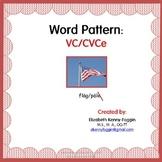 VC/CVCe Word Pattern
