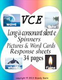 VCE Long a sound rainbow spinners, picture & word cards and response sheets
