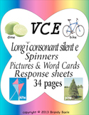 VCE Long i sound rainbow spinners, picture & word cards and response sheets
