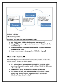 VCE PE skill acquisition transition booklet