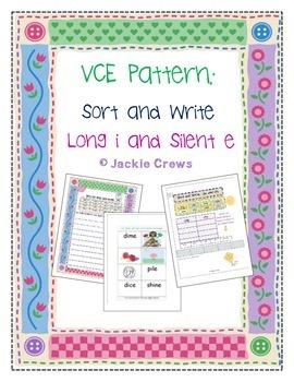 VCE Pattern Sort and Write  Activity Bundle Long i