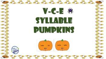 VCE Syllable Pumpkins