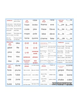 VCE Word & Sentence Practice Cards