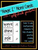 """""""Magic E"""" Word Cards with Self Check Pictures"""