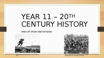 VCE Year 11 Twentieth Century History Revision PowerPoint