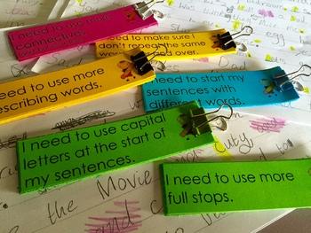 VCOP Big Write Writing Goals EDITABLE