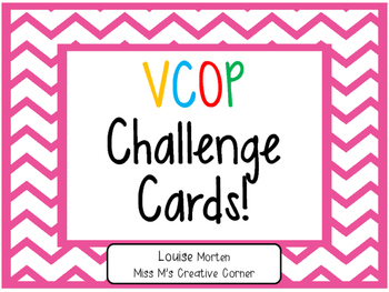 VCOP Challenge Cards EDITABLE