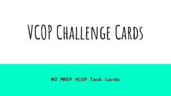 VCOP Challenge Cards (Free No Prep)