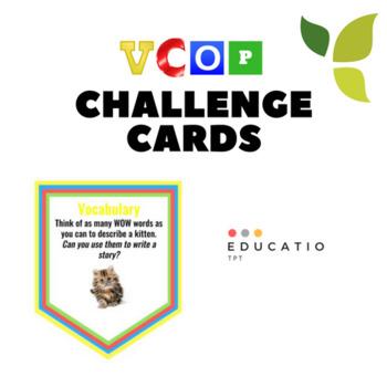 VCOP Challenge Task Card Bundle (No prep)