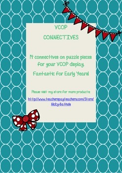 *VCOP* Connectives- Puzzle pieces for your display.