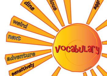 VCOP Vocabulary Sun Display Set