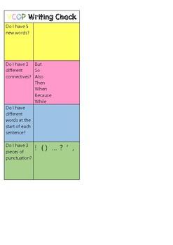 VCOP Writing Checklist