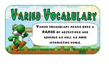 VCOP explanation poster Mario themed