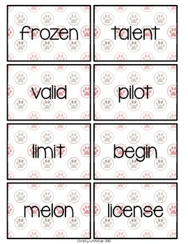 VCV Syllable Decoding for Upper Elementary; RTI