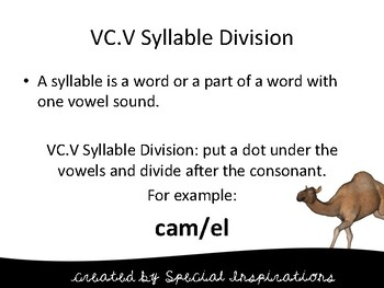 VC.V Syllable Division Board Game