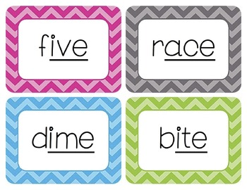 VCe Words Word Wall Cards