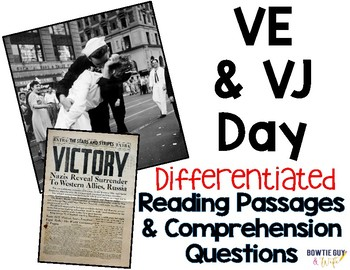 VE Day & VJ Day Victory Day Differentiated Leveled Text Reading Passages