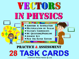 VECTORS in High School PHYSICS: 28 Task Cards with Key, Review, Assessment