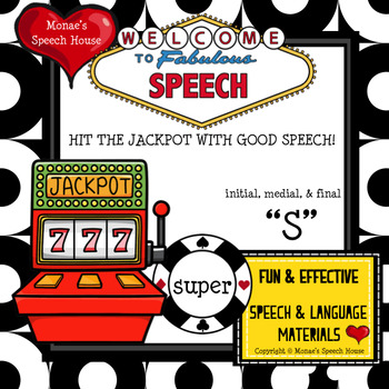 VEGAS FUN  SPEECH THERAPY /s/ worksheets