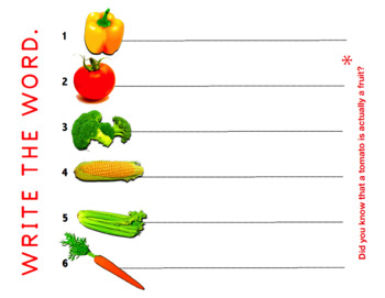 VEGGIES (A puzzle's worth a thousand words)