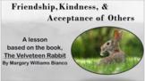 VELVETEEN RABBIT Friendship Diversity No Prep SEL Lesson w video & activities