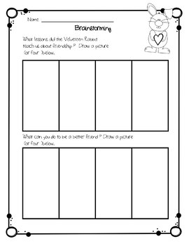 VELVETEEN RABBIT WRITING ACTIVITY AND CRAFT CCSS