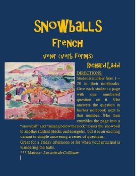 VENIR Snowballs FRENCH