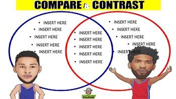 VENN DIAGRAM - BASKETBALL - Compare and Contrast