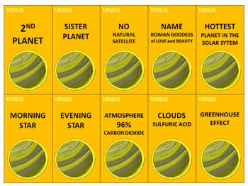 VENUS FLASH CARDS