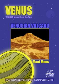 VENUS PLANET ( Volcano Maat Mons )