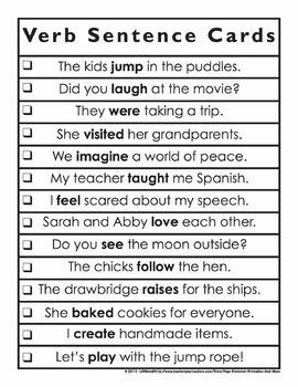 Verbs Bingo