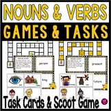 Nouns and Verbs Task Cards and Game Set