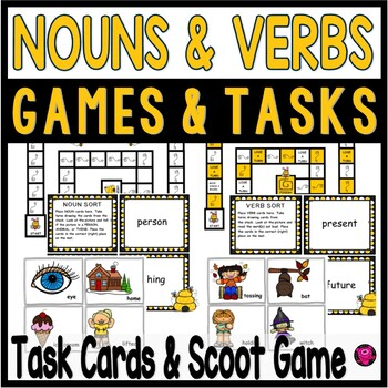 Verbs and Nouns Games and Activities with Differentiation