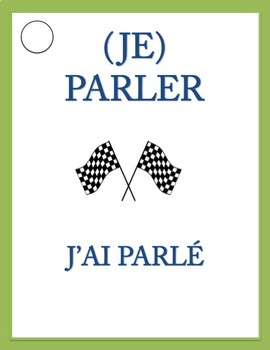 VERB RACE GAME Passé Composé of Regular Verbs with AVOIR