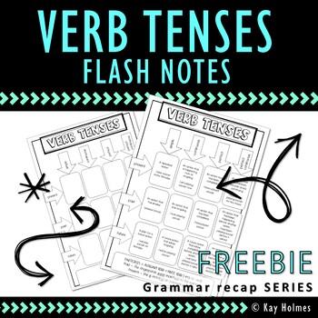 VERB TENSES FREEBIE: Grammar Flash Notes