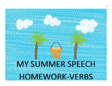 VERB TENSES SUMMER CALENDAR/PACKET