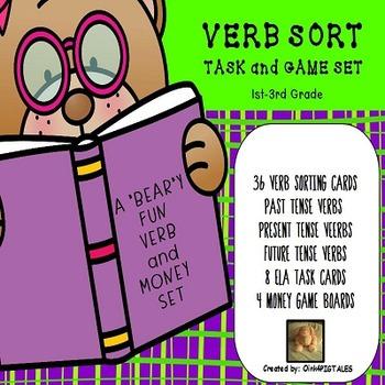 VERB SORTING TASK GAME SET